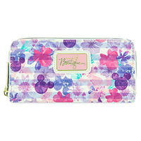 Mickey and Minnie Mouse Icons Floral Wallet - Disney Boutique | Disney Store