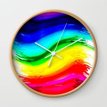 crayplay Wall Clock by violajohnsonriley