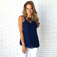 Nautical Ties Navy Blouse