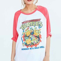 Junk Food Ninja Turtles Baseball Tee