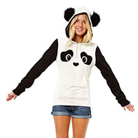 Hot Women Panda Pocket Hoodie Top bts moletom kpop sudaderas mujer 2016 Women sweatshirt White S/M/L/XL Drop Shipping S35