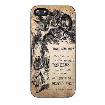 alice in wonderland bonkers case for iphone 5 5s