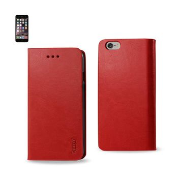 Reiko Iphone 6 Plus Flip Folio Case With Card Holder In Red