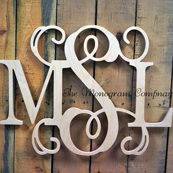 26 x 30 wooden monogram monogram wall hanging wedding monogram wooden