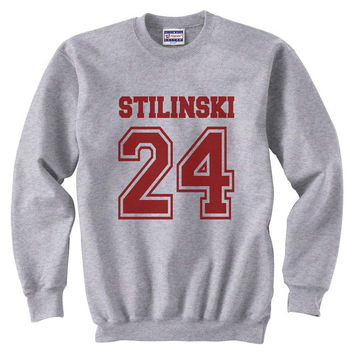 Stilinski 24 Maroon ink teen wolf beacon hills lacrosse Unisex Crewneck Sweatshirt S to 3XL