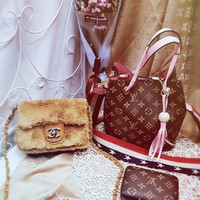 Year-End Promotion 3 Pcs Of Bags Combination (LV Big Bag ,Chanel Little Bag ,LV Wallet)