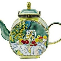 Table with Fruits Miniature Art Masterpiece Teapot by Cezanne 4L