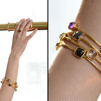 Gemstone Bangles - Stacking Bangles -Bracelets