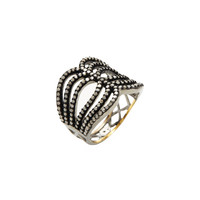 Pave Diamond Stacked Ring