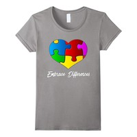 Autism Awareness Embrace Differences Autistic Support Shirt