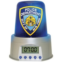 NYPD City Of New York Police Department Siren Digital Nightstand Alarm Clock