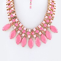 NEON FEVER STATEMENT NECKLACE SET