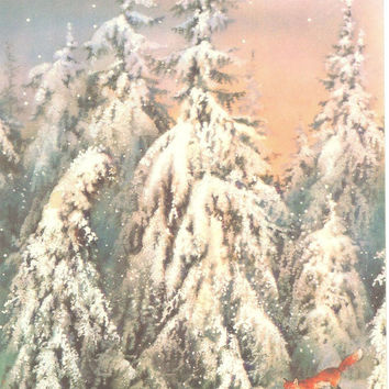Happy New Year card-Vintage post card - Soviet postcard - Russian card  - congratulation card-greeting card- not used