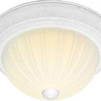"""Nuvo 76-125 - 2-Lights 11"""" Flush Mount Frosted Melon Glass"""