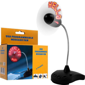 Programmable LED Message Fan by NorthWest  - USB Powered