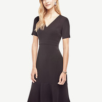 Crepe Flounce Dress | Ann Taylor