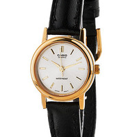 LTP1095Q-7ACasio Black Leather Ladies Analog Watch