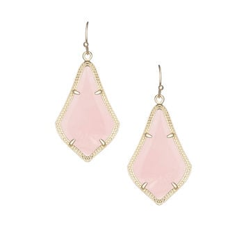 Alex Rose Quartz Earrings, Rose - Kendra Scott