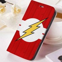 Flash Superheroes Logo | movie | custom wallet case for iphone 4/4s 5 5s 5c 6 6plus case and samsung galaxy s3 s4 s5 s6 case