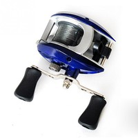 Most Low Price Baitcasting Fishing Reel + Line 3# 50M,Speed Ratio 3.3:1, High Strength ABS Plastic Bait Casting Reel for Fishing