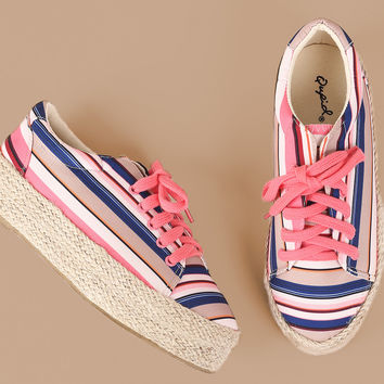 Lace Up Espadrille Flatform Sneakers | UrbanOG