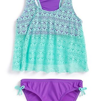 Girl's Malibu 'Summer Romance' Tankini Two-Piece Swimsuit,