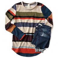 NEW! Fall Stripe Long Sleeve Top