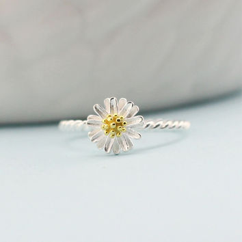 New Arrival Jewelry Shiny Gift Stylish Gifts Floral Korean 925 Silver Strong Character Ring [6586343815]