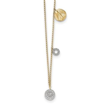 14K Yellow Gold Diamond Three Circle W/1 IN EXT Necklace