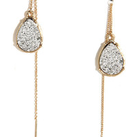 Mica Me Crazy Silver and Gold Threader Earrings