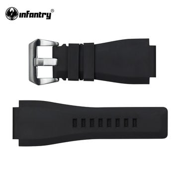 Watch Black Silicone Rubber Bands For Watch Electronic Wristwatch Sports Watch Straps Replacement