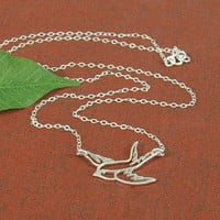 Dove Necklace, Peace Dove, Sterling Silver Dove, Sterling Silver Necklace, Bird Necklace, Love Dove