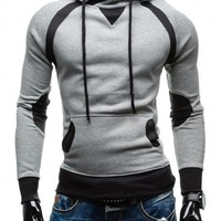 Men Hoodies Print Pullover Long Sleeve Slim Hats [10669406915]