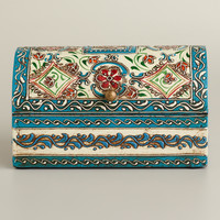Hand-Painted Meena Dome Jewelry Box