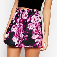 ASOS Going Out Paper Bag Shorts in Floral Print