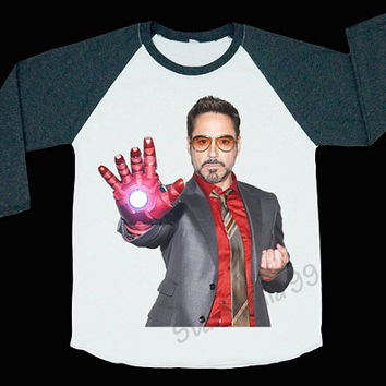 Robert Downey Jr T-Shirt Movie Tee Shirt Rock Shirt Iron Man Shirt Baseball tee Shirt Long Sleeve Tee Women T-Shirt Unisex T-Shirt (S,M,L)