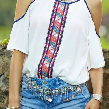 Summer Camisole floral printed casual tank top native american for Women