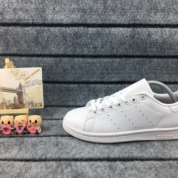 Adidas Originals Stan Smith Shoes Junior Version Of Sneakers All White