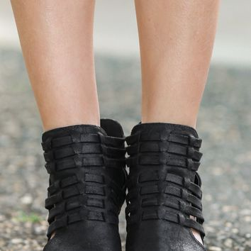 Rattle My Cage Black Ankle Boots