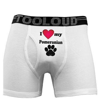 I Heart My Pomeranian Boxer Briefs  by TooLoud