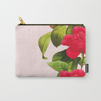 Botanical Light Kiss Carry-All Pouch by cadinera