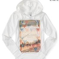 Aeropostale  Long-Sleeve Free State Rio Geo Hooded Tee