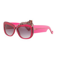 Rose et la Mer Leopard Sunglasses, Red - Anna-Karin Karlsson