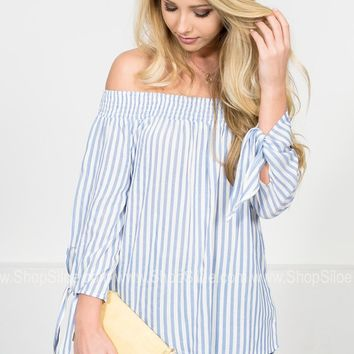 Chambray Striped Summer Top