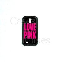Samsung Galaxy S4 Case, Love Pink  Samsung Galaxy S4 case, Galaxy S4 Cover, Galaxy S4 Phone case