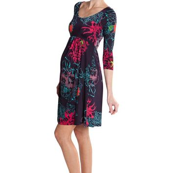 Olian Manuela Floral Print Maternity Dress