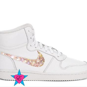 Crystal Women's Sneakers | Ebernon Hi Fashion White