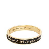 Disney Couture Exclusive To ASOS Have Faith In Your Dreams Black Enamel Bangle at asos.com