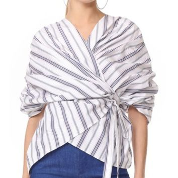 Wrap Gathered Top