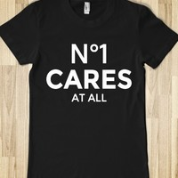 NO 1 CARES AT ALL DARK FITTED T-SHIRT (WHT1CL81BFT3)